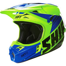 blue motocross helmet shift racing 2016 assault race helmet yellow blue available at