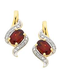 garnet earrings garnet earrings yellow gold garnet diamond set earrings