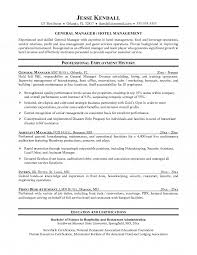 Resume Template For Hospitality Brilliant Ideas Of Sample Resume Of Hospitality Management For