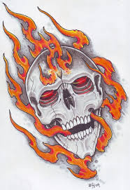 flaming skull flash pictures to pin on