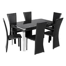 black glass dining room sets interesting dining table black all dining room