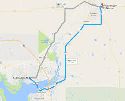 Port Charlotte Florida Map by Directions From Port Charlotte Fl To Desoto Chrysler Dodge Jeep