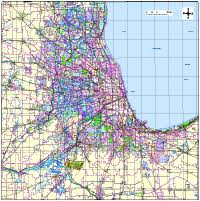 chicago zip code map editable chicago il metro area map with zip codes illustrator
