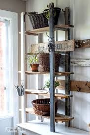 entry shelf quirky 2 ladder shelving in the entryfunky junk interiors