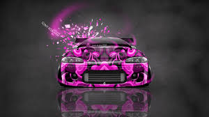 pink mitsubishi eclipse mitsubishi eclipse jdm tuning front domo kun toy car 2014 el tony