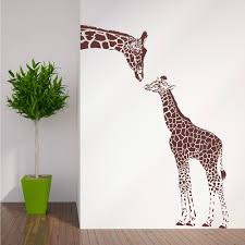 aliexpress com buy zn n194 giraffe and baby giraffe wall sticker aliexpress com buy zn n194 giraffe and baby giraffe wall sticker animals vinyl wall art nursery girl wall sticker wall stickers for kids room from