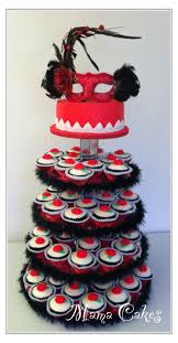 red and black masquerade cakes dress images