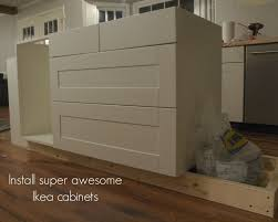 how to install kitchen base cabinets building a custom microwave cabinet simply swider