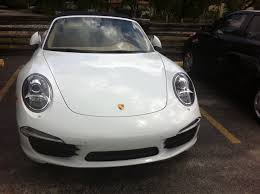 porsche here for minor paint job on the bumper hairline scratches