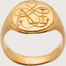 Ring With Initials Signet Ring True Lover U0027s Knot