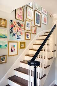 decorating staircase wall inspiring good ideas about stairway wall