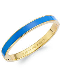 blue bangle bracelet images Lyst kate spade new york gold tone head in the clouds blue jpeg