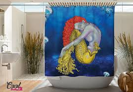 Vintage Mermaid Shower Curtain - 75 of the coolest shower curtains for a unique bathroom