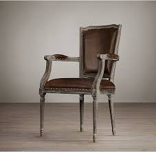 Leather Dining Room Chairs square nailhead back cream leather dining room chairs with oak