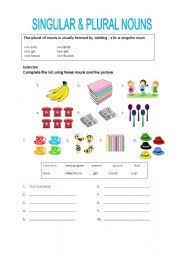 singular and plural nouns worksheet by tanpopo