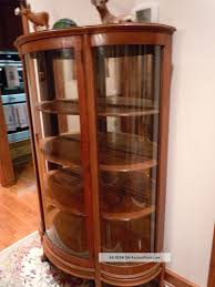 Antique Corner Curio Cabinet Furniture Elegant Mahogany Curio Cabinets With Glass Door And