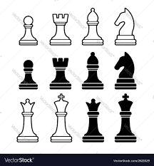 White Chess Set Chess Pieces Including King Queen Rook Pawn Knight