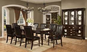 dundee place rectangular top leg table dining room set by avalon