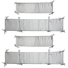 Wendy Bellissimo Convertible Crib Wendy Bellissimo Dotted Stripe 4 Crib Bumper In Grey White