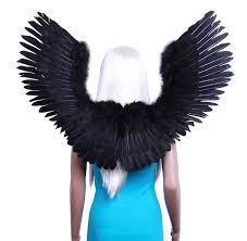 Angel Wings Halloween Costume Amazon Fashionwings Tm Black Open Swing Shape Costume