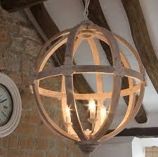 Wooden Chandeliers Lighting Large Wooden Orb Chandelier Chandeliers Rounding And Woods