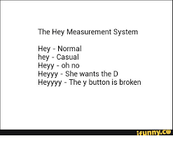 Heyyy Meme - the hey measurement system hey normal hey casual heyy oh no heyyy