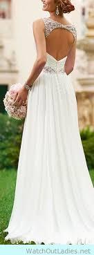 simple open back wedding dresses pretty open back with lace chiffon wedding dress wedding ideas