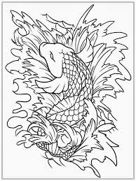 koi fish coloring page free download