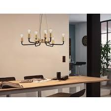 eglo 95216 paltas gold and black 9 light chandelier