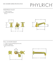 phylrich kitchen faucets hex modern series specification phylrich pdf catalogues