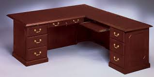 L Shaped Desk With Locking Drawers by Flexsteel Contract Governor U0027s 72