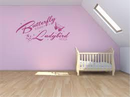 butterfly kisses ladybird hugs vinyl wall art decal vinyl vault
