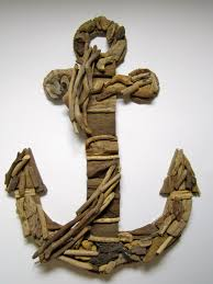 handmade driftwood anchor driftwood home decor anchor wall