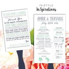 Personalized Wedding Programs Personalized Digital File Wedding Program Fan With Love Story And
