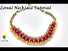 How To Make Jewelry Beads At Home - how to make loreal necklace at home easy simple beautiful