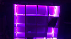 ikea storage shelf with attached led lights from amazon youtube