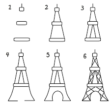 how to draw the eiffel tower edrk12 free coloring pages