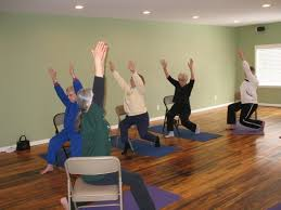 Chair Yoga Poses First Study To Show Chair Yoga As Effective Alternative Treatment