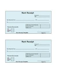 general rental bill or receipt template sample for word or excel