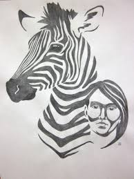 zebra portrait art perspective