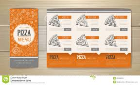 pizza concept design corporate identity document template stock