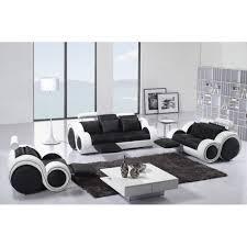 canap relax cdiscount ensemble cuir relax oslo 3 1 1 places noir et blan achat vente