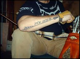 embedded feather arrow tattoos photo 1 2017 real photo