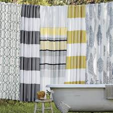 Yellow And Navy Shower Curtain Yellow Striped Shower Curtain To Go With The Newly Painted Navy