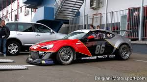 subaru brz gt300 body kit toyota gt86 turbo racecar first shakedown at zolder 2014 incl