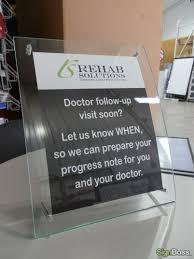 Custom Desk Plaque Rehab Solutions Signboss Llc Gillette Wyoming Signboss Llc