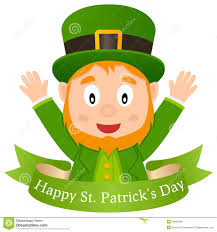 happy patrick s day leprechaun u0026 ribbon stock vector image 49060086