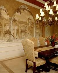 Tuscan Wall Murals Tuscan Mural Dining Room Hand Painted Wall - Dining room mural