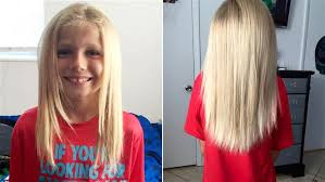 how to grow out boys hair florida boy grows out hair to donate to child in need today com
