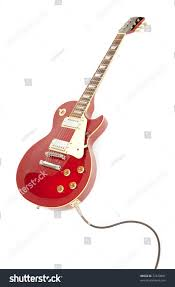 vintage red electric solid body guitar stock photo 72220801